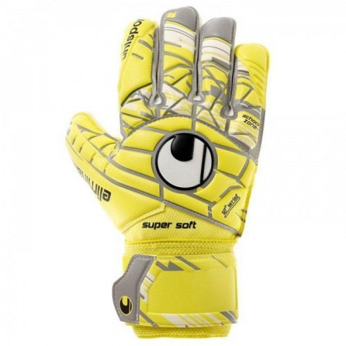 Uhlsport Torwart-Handschuhe Eliminator Supersoft gelb/grau