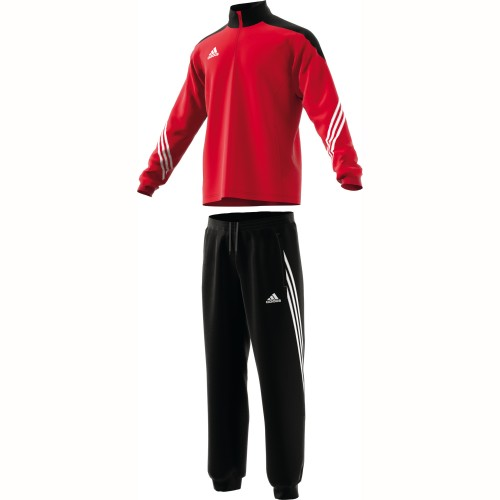 Adidas Präsentationsanzug Sereno 14 rot/schwarz