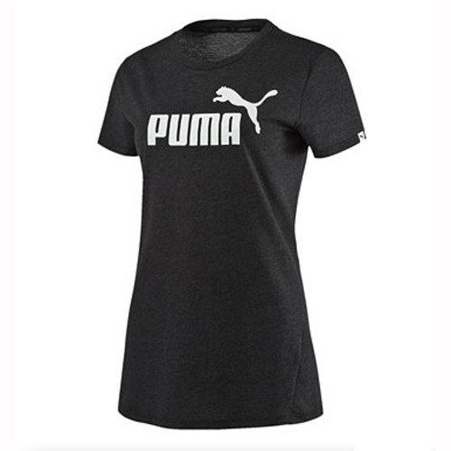 Puma Damen T-Shirt Ess No. 1 Tee Heather schwarz