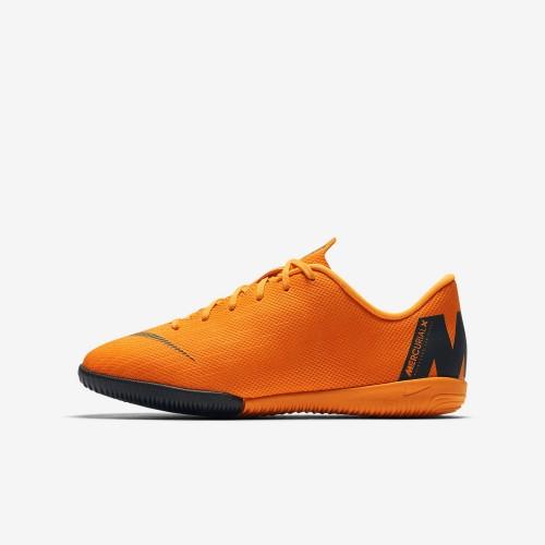 Nike Fussballschuhe MercurialX Vapor XII Academy IC Kinder orange/schwarz
