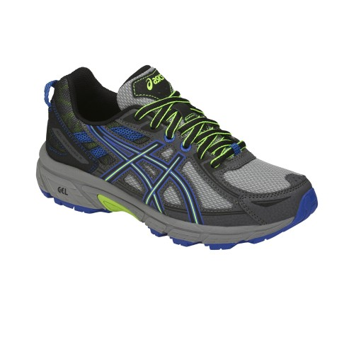 Asics runningshoes Gel-Venture 6 (GS) Kids grey/blue/neon yellow