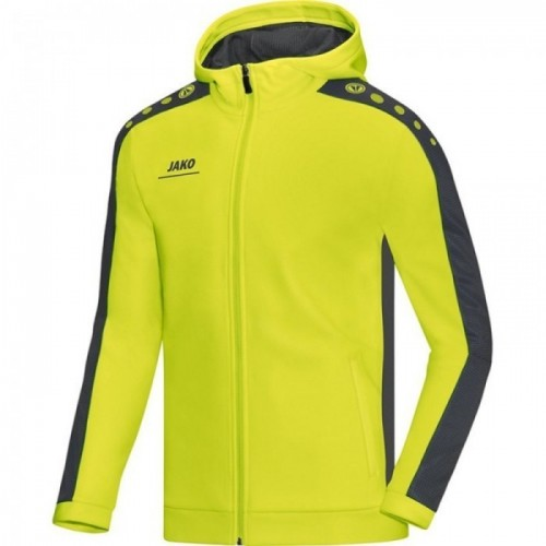 Jako Kaputzenjacke Striker für Kinder lime/anthrazit