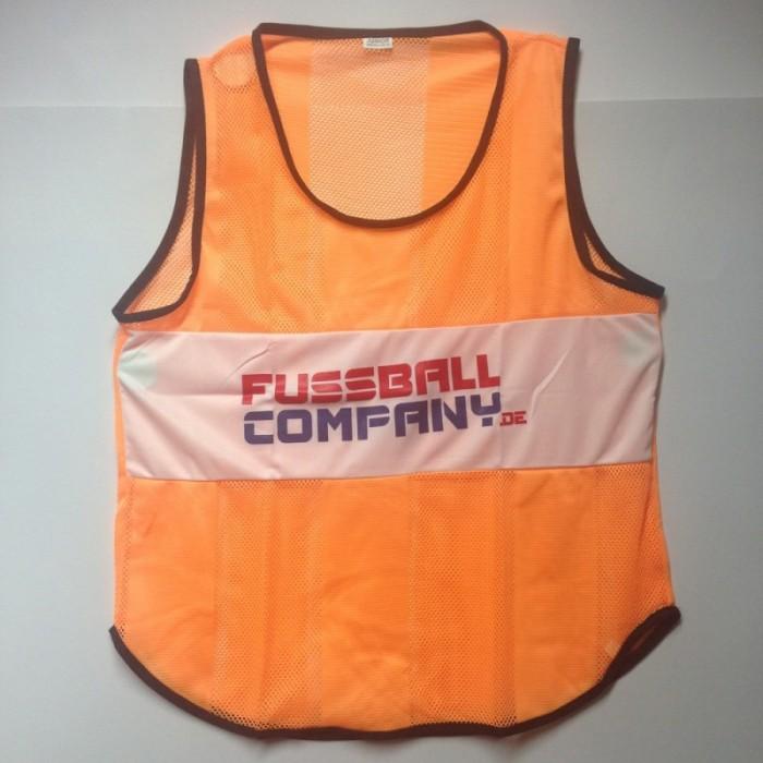 Fussballcompany.de-Trainings-Leibchen 10er Set orange