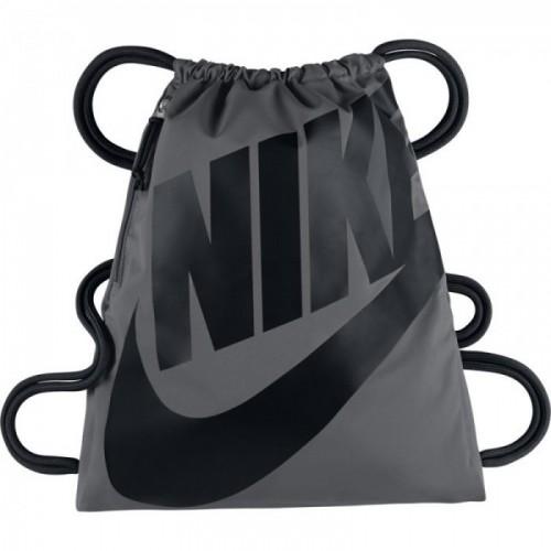 Nike Turnbeutel Heritage grau/schwarz