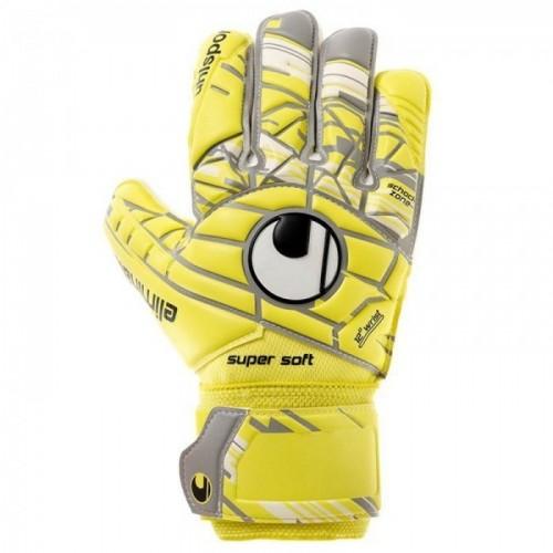 Uhlsport Torwart-Handschuhe Eliminator Supersoft gelb/grau