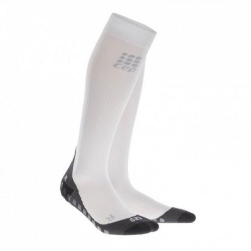 CEP Griptech Kompressions-Socken Damen weiß/grau