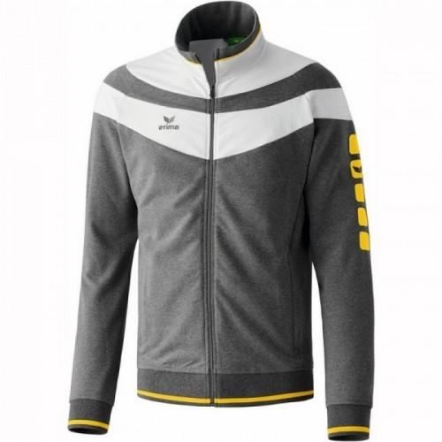Erima 5-Cubes Jacket Fashion grau meliert/weiß