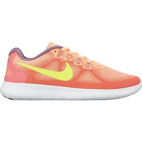 Nike Damen-Freizeitschuhe Free RN 2017 orange/gelb