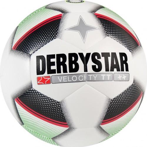 Derbystar Fussball Velocity TT weiß/schwarz/grün