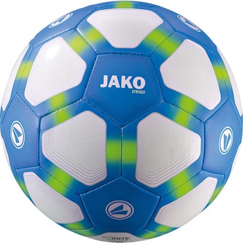 Jako Fussball Striker 290g Lightball weiß/Jako-blau/neongrün