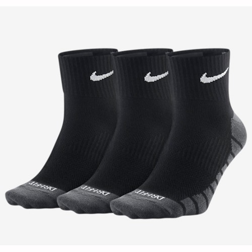 Nike Trainingssocken Dry Lightweight Quarter 3er Pack schwarz