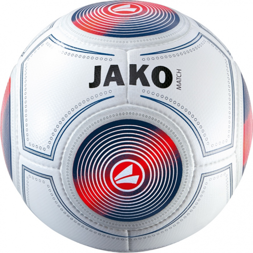 Jako Football March Trainingsball white/navy/red