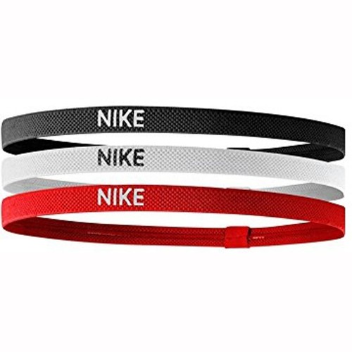 Nike Elastic Hairbands 3 Pack black/white/red