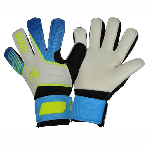 Jako Torwart-Handschuhe Champ Basic Junior RC weiß/blau/neongelb/schwarz