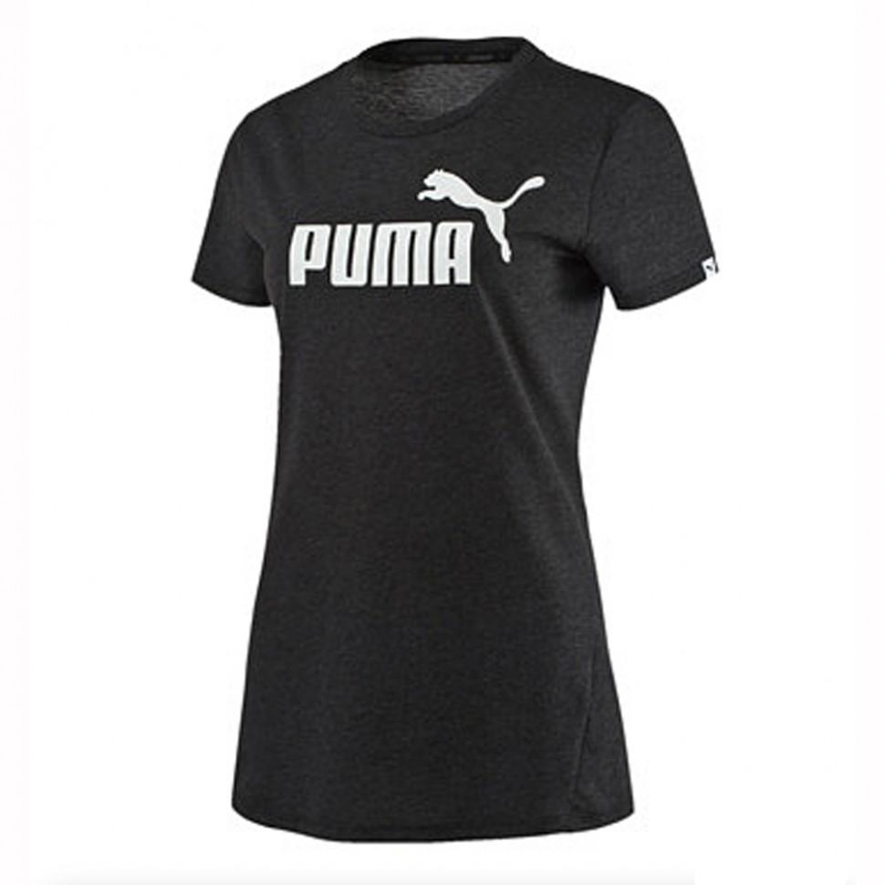 Puma Damen T-Shirt Ess No. 1 Tee Heather schwarz