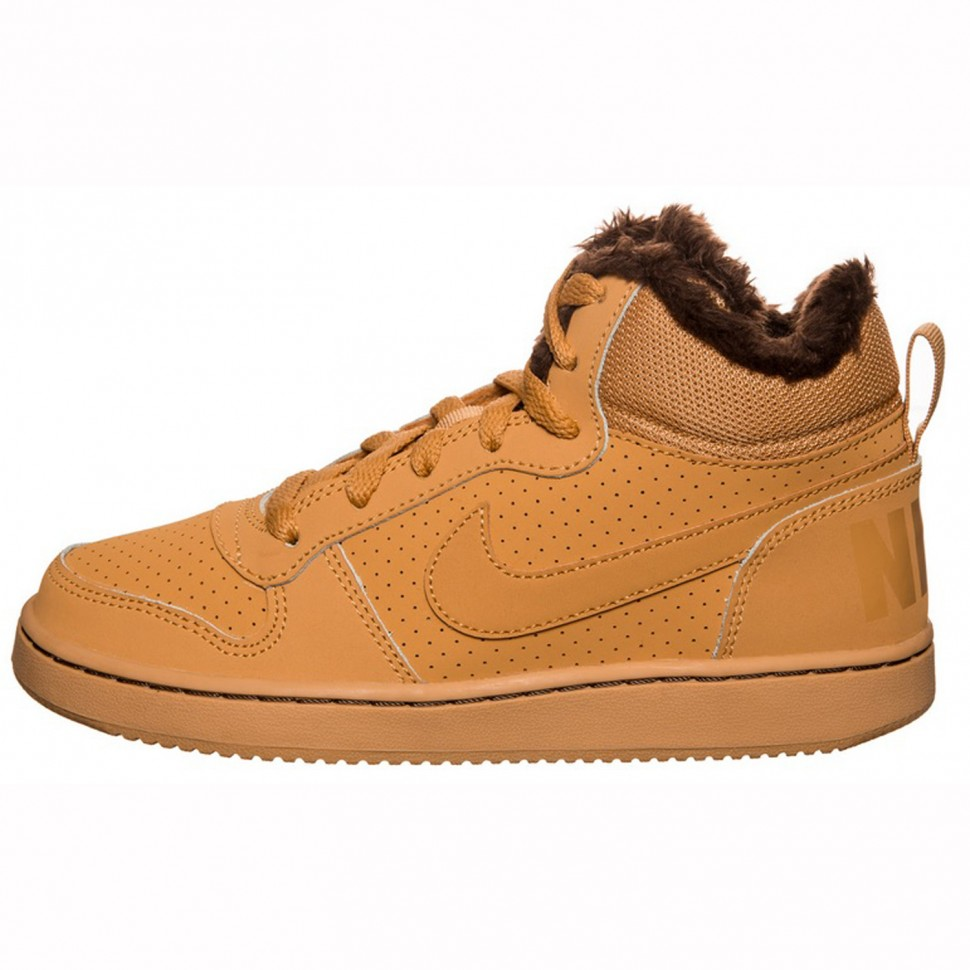 Nike leissure shoes Court Borough Mid (GS) kids camel