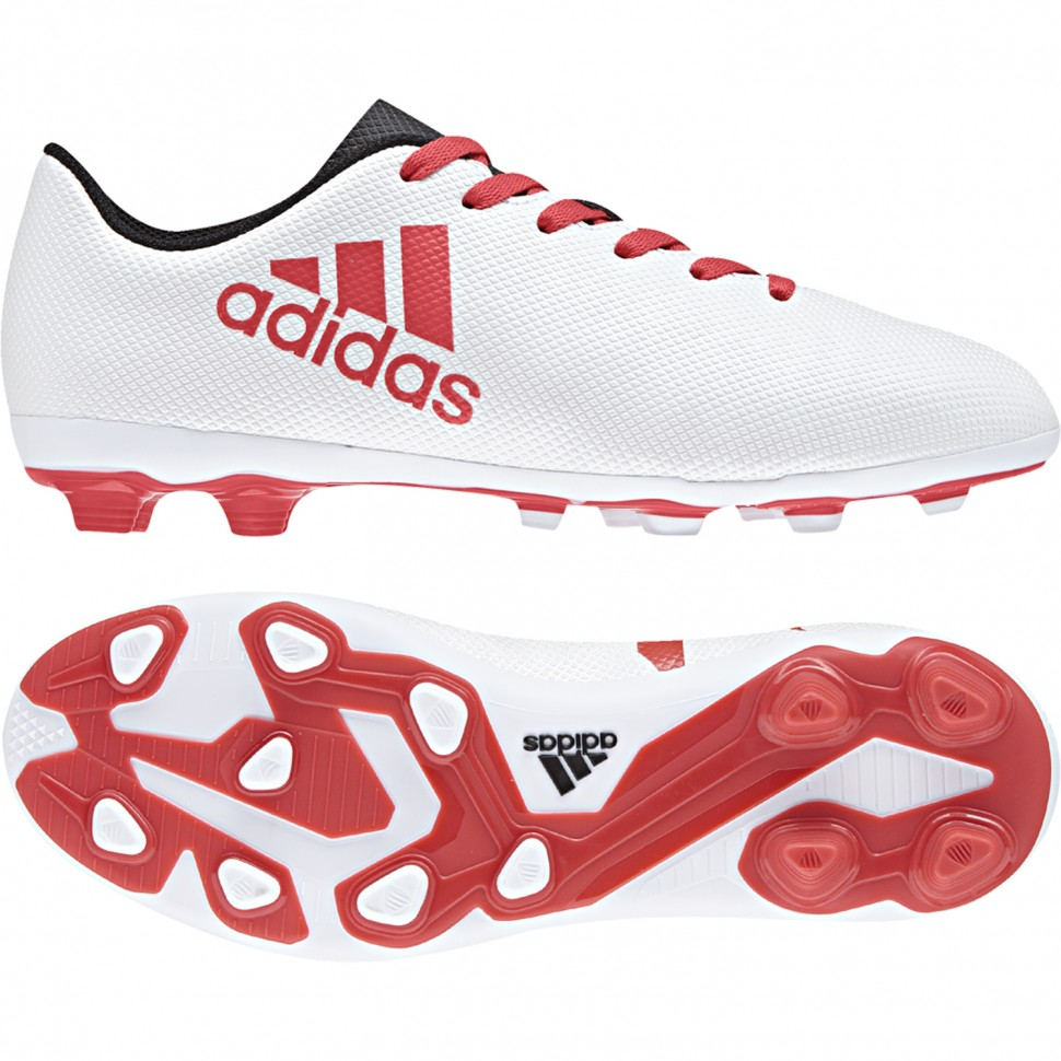 Adidas soccer shoes X 17.4 FxG J Kids white/red