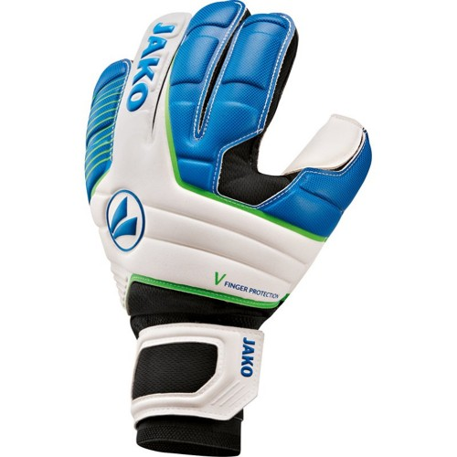 Jako Goalkeeper Handshoes Champ Basic RC Protection white/blue/black
