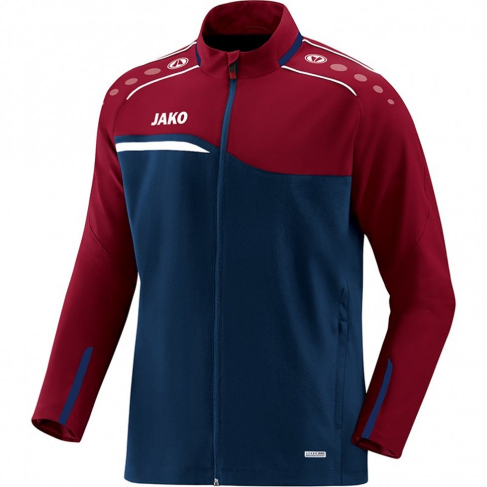 Jako Competition 2.0 presentation jacket marine/dark red