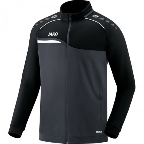 Jako Competition 2.0 Polyesterjacke Kinder anthrazit/schwarz