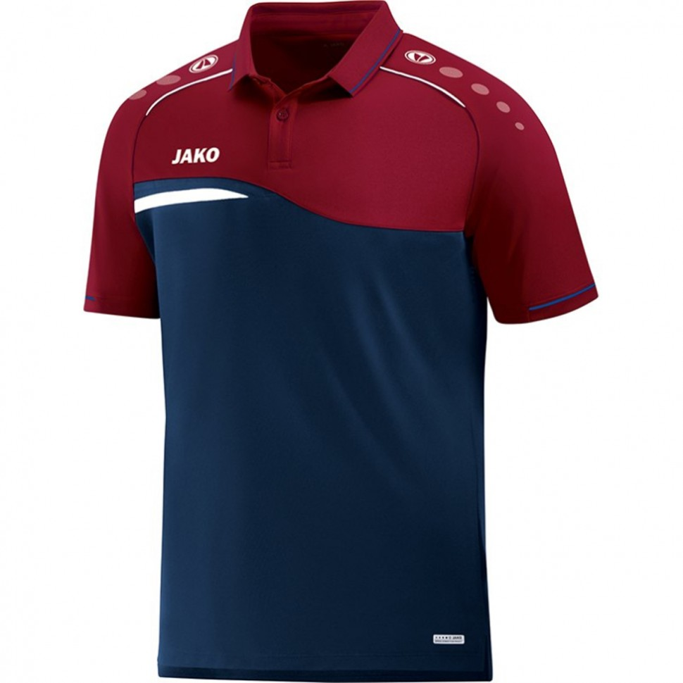 Jako Competition 2.0 Polohemd marine/rot