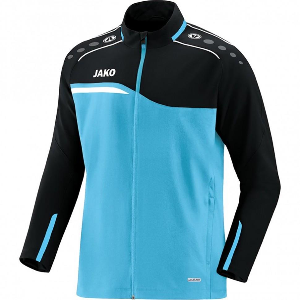 Jako Competition 2.0 presentation jacket Kids black/light blue