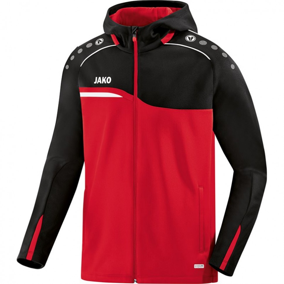 Jako Competition 2.0 Hooded Jacket women black/red
