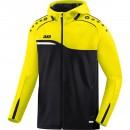 Jako Competition 2.0 Hooded Jacket women black/yellow