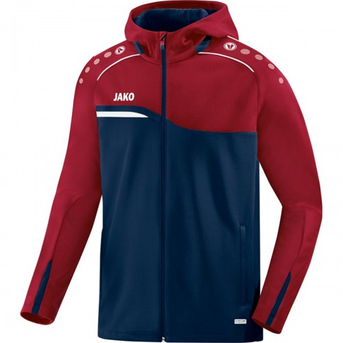 Jako Competition 2.0 Hooded Jacket women marine/dark red