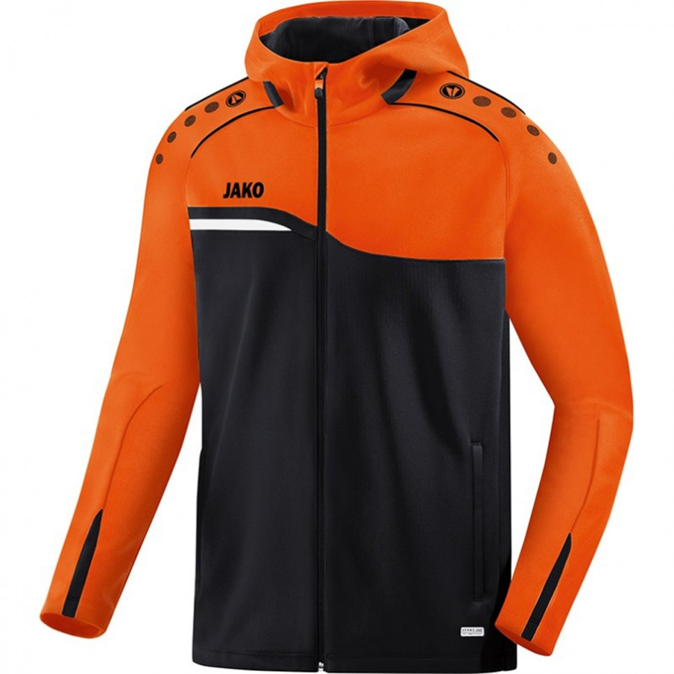 Jako Competition 2.0 Hooded Jacket women black/orange