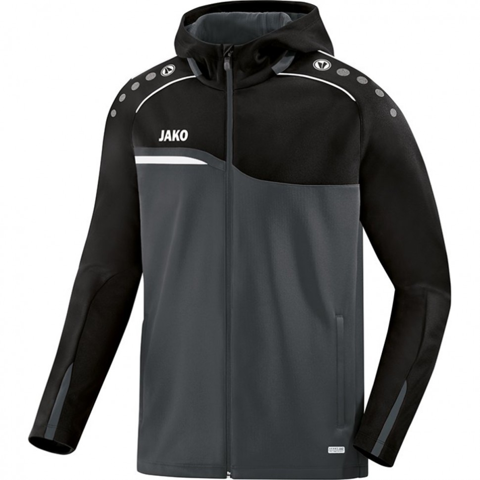 Jako Competition 2.0 Hooded Jacket black/anthracite