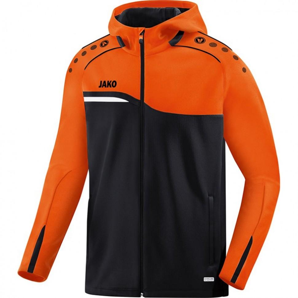 Jako Competition 2.0 Hooded Jacket black/orange