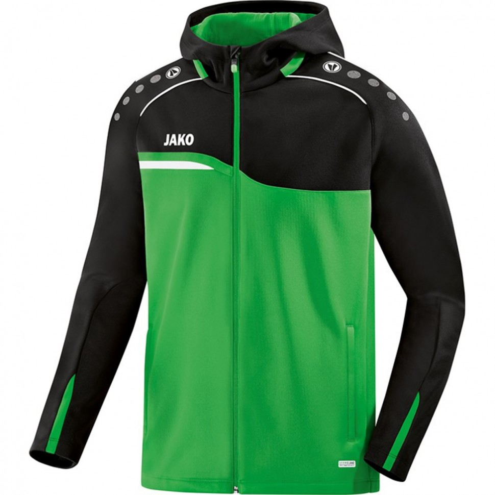 Jako Fußball Polyester Jacke Competition 2.0 Herren Trainingsjacke grau schwarz