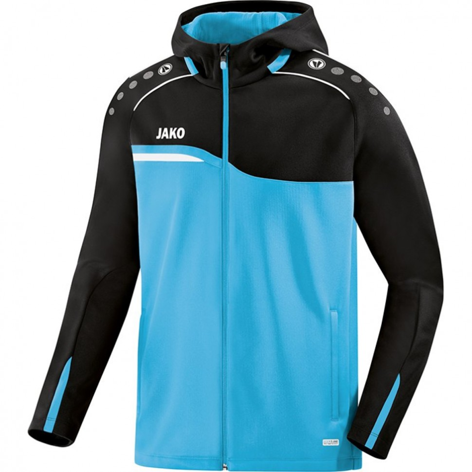 Jako Competition 2.0 Hooded Jacket black/light blue