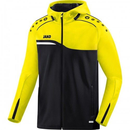 Jako Competition 2.0 Hooded Jacket Kids black/yellow