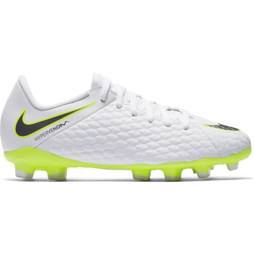 Nike soccer shoes Phantom 3 Academy (FG) Kids white/neonyellow