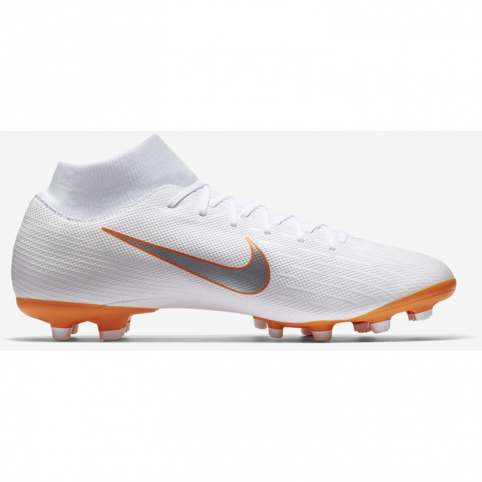 Nike soccer shoes Mercurial Superfly VI Academy MG white/orange