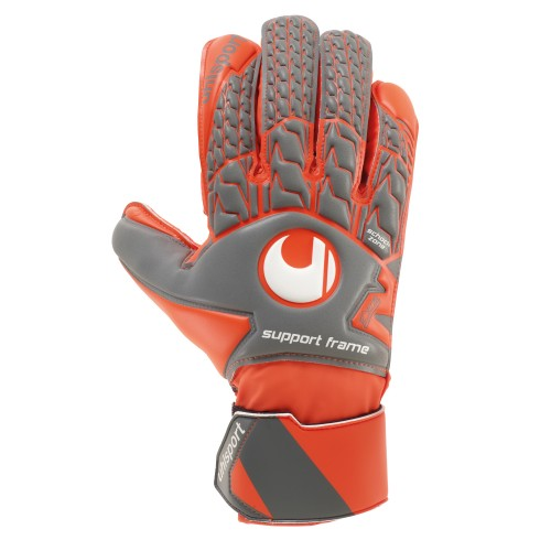 Uhlsport Torwart-Handschuhe Aerored Soft SF grau/orange