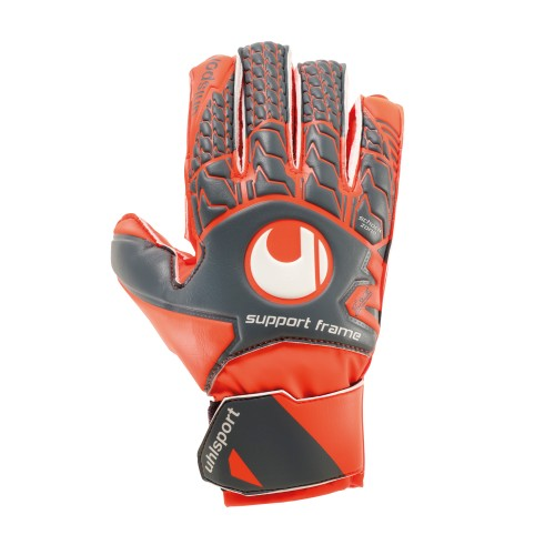 Uhlsport Torwart-Handschuhe Aerored Soft SF Kinder grau/orange