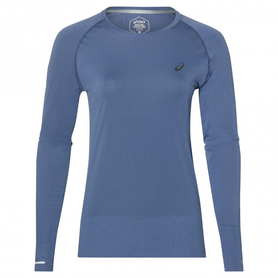 Asics Langarmshirt nahtlos Damen blau