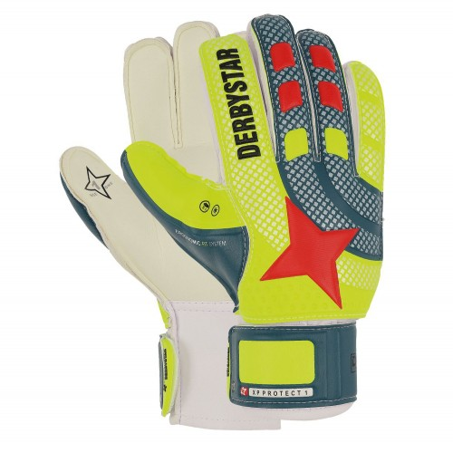 Derbystar Goalkeeper Handshoes XP Protect yellow/grayblue
