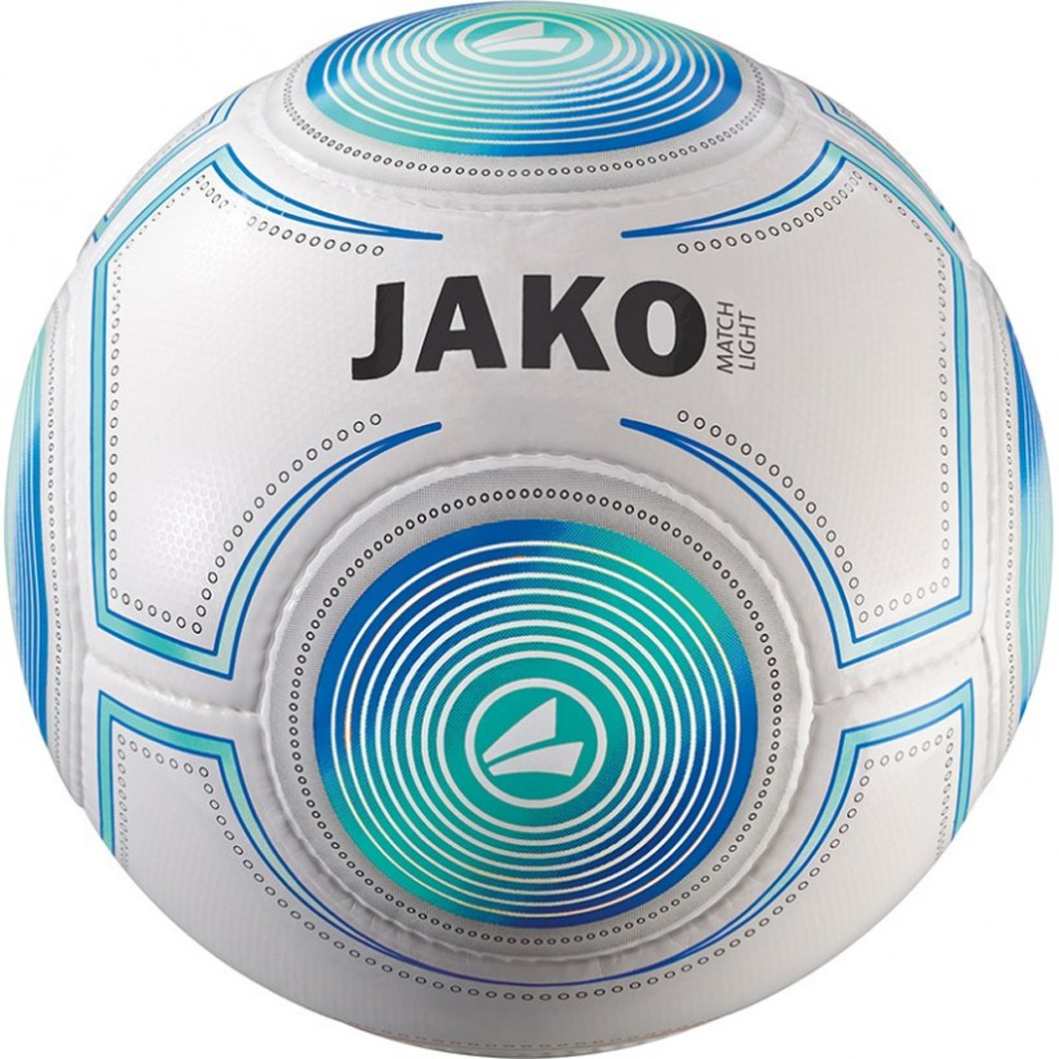 Jako Football Lightball Match 350g white/aqua