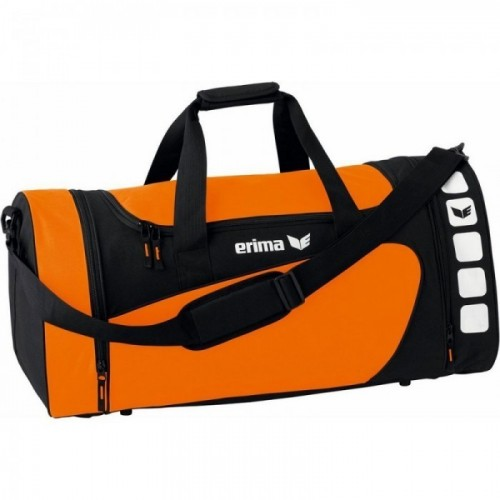 Erima Sporttasche Club 5 Line orange/schwarz medium