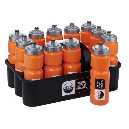 Sport2000 Trinkflaschencontainer (inkl. 12 Flaschen) schwarz