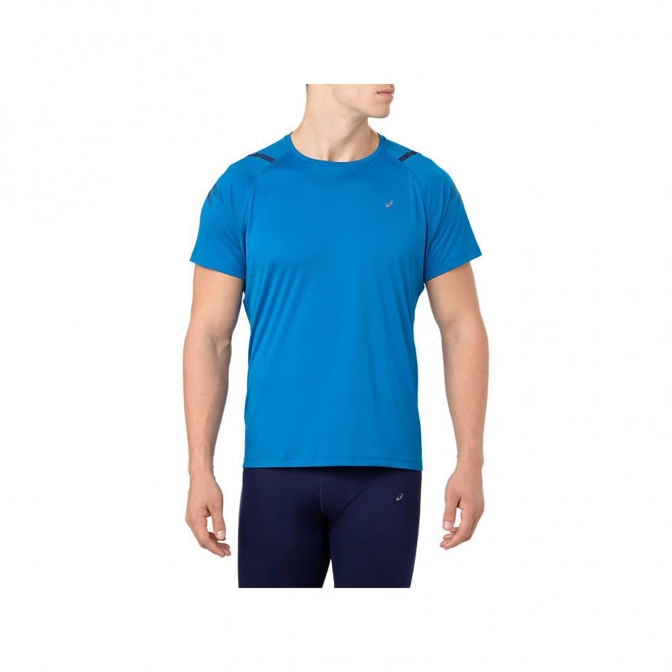 Asics Icon Kurzarm-Top blau