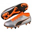 Puma football boots One 4 Syn FG kids silver/orange