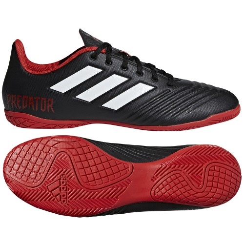 Adidas Hallen-Fussballschuhe Predator Tango 18.4 In schwarz/rot