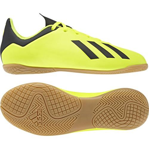 Adidas Hallen-Fussballschuhe X Tango 18.4 IN Kinder gelb/schwarz