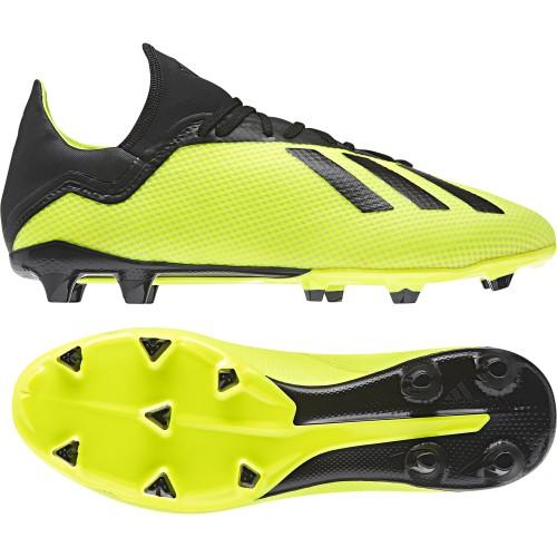 Adidas soccer shoes X 18.3 FG yellow/black