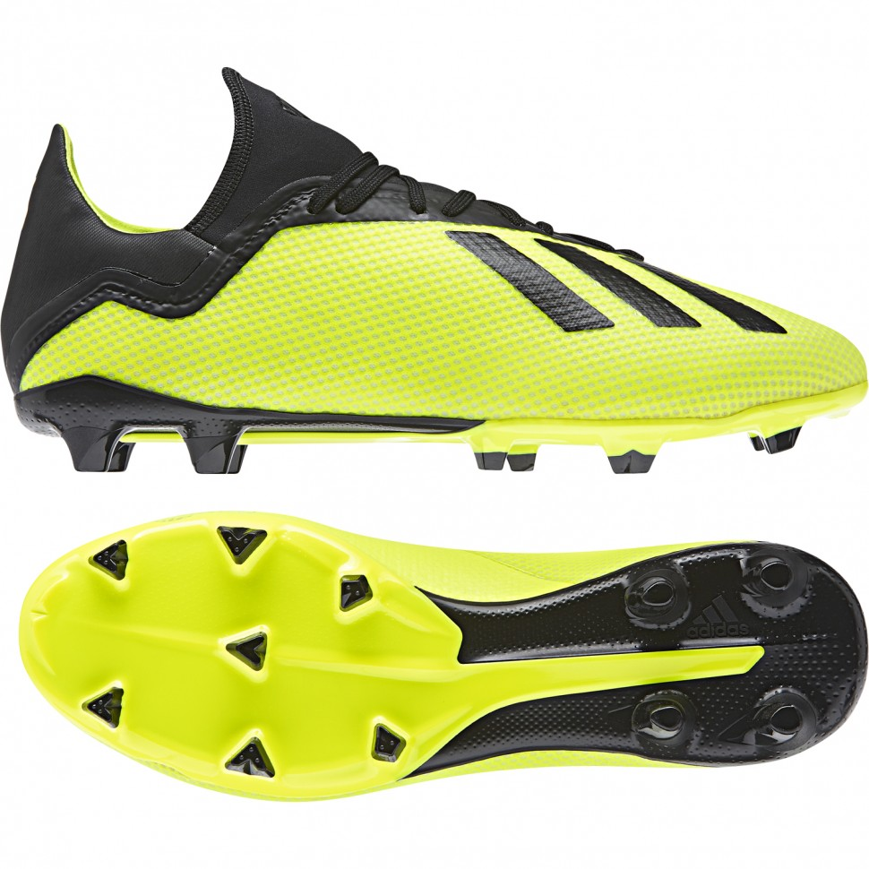 Adidas soccer shoes X 18.3 FG yellow/black